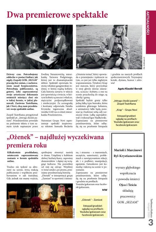 TarNowa Kultura 11/2020 strona 3