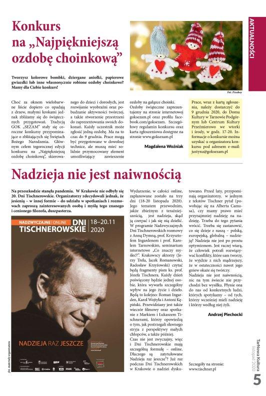 TarNowa Kultura 11/2020 strona 5